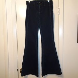 Free People High Waist Flared Jeans | Dk Blue | 27